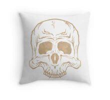 Skull - Desert Camo Throw Pillow
