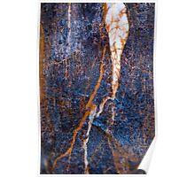 Blue and Orange Rocks Poster