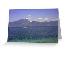 Lake Garda Italy digitally enhanced photo Greeting Card