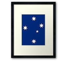 Southern Cross - White ink Framed Print