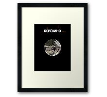 DayZ: Berezino - White ink Framed Print