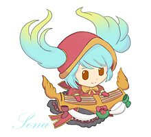 (Silent Night) Sona - Maven of the Strings League Of Legends Photographic Print