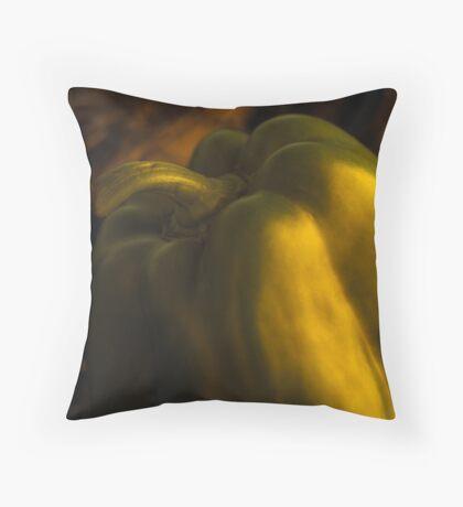 Green capsicum Throw Pillow