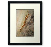 Red Rock Shapes #2 Framed Print