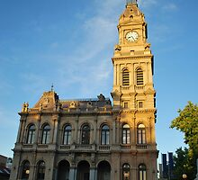 Bendigo's Historical  Post Office, Side View by Lozzar Landscape