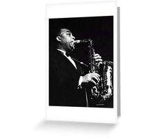 Big Band Sax Greeting Card