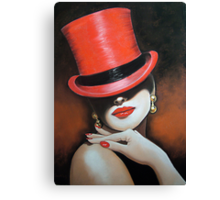The Red Top Hat Canvas Print