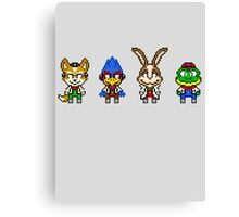 Star Fox Team Mini Pixels Canvas Print