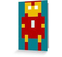8-Bit Iron Man Greeting Card