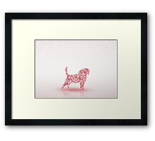 Puppy Christmas Framed Print