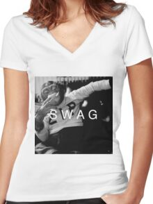 Swag Monkey Women's Fitted V-Neck T-Shirt