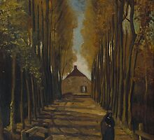 Vincent van Gogh - Avenue of poplars in autumn - 1884 by forthwith