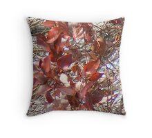 red not dead Throw Pillow