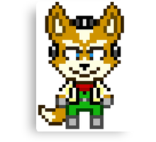 Fox McCloud - Star Fox Team Mini Pixel Canvas Print