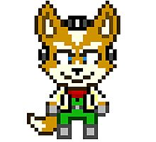Fox McCloud - Star Fox Team Mini Pixel Photographic Print