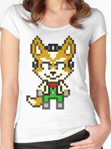 Fox McCloud - Star Fox Team Mini Pixel Women's Fitted Scoop T-Shirt