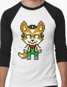 Fox McCloud - Star Fox Team Mini Pixel Men's Baseball ¾ T-Shirt