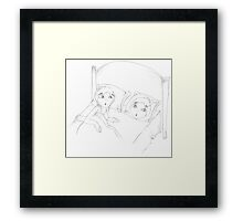 PENCIL ART - Never Go To Bed With Makeup On Framed Print