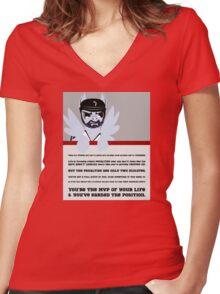 Pegabrook peptalk Women's Fitted V-Neck T-Shirt