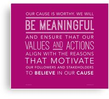 Be Meaningful (Wide Margins) Canvas Print