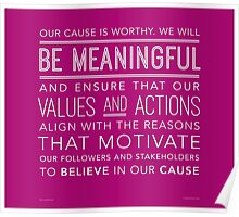 Be Meaningful (Wide Margins) Poster