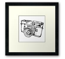 Rangefinder Style Camera Drawing Framed Print