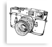 Rangefinder Style Camera Drawing Canvas Print