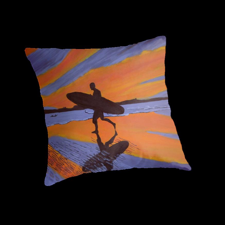 Sunset surfer by Jenny  Dyer