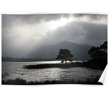 Silver skys over Kerry lake Poster
