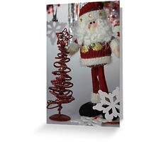 Santa And The Christmas Tree Greeting Card
