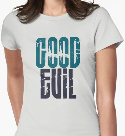 Good Vs. Evil Womens Fitted T-Shirt