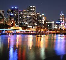 melbourne city at nite by sajal maskey