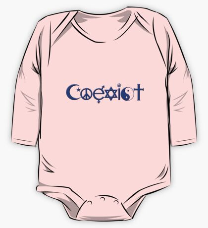 COEXIST blue One Piece - Long Sleeve