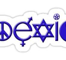 COEXIST blue Sticker