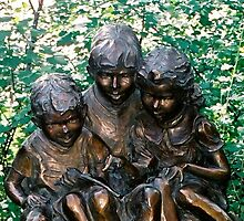 Three Kids Statue by eclectickimmer