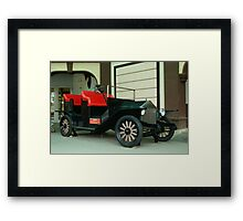 Topless Old Buggy Framed Print