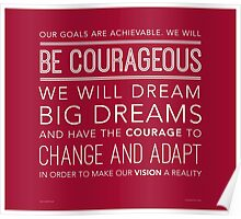 Be Courageous (Wide Margins) Poster