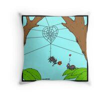 Spider Love Throw Pillow