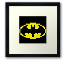 8bit Batman Framed Print