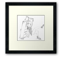 PENCIL ART - How To Dance Like A Stripper In Our Living Room Framed Print