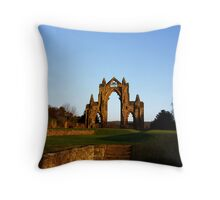 Priory Sunset Throw Pillow