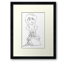 PENCIL ART - To Research, Organize, Keep Track Of All Intact And Shred Future Dread Framed Print