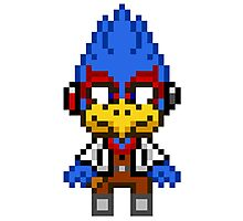 Falco Lombardi - Star Fox Team Mini Pixel Photographic Print
