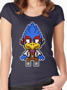 Falco Lombardi - Star Fox Team Mini Pixel Women's Fitted Scoop T-Shirt