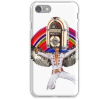 Elvis Brings Forth the Jukebox from the Rainbow in His Magnificent Wings iPhone Case/Skin
