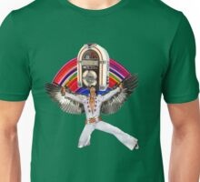 Elvis Brings Forth the Jukebox from the Rainbow in His Magnificent Wings Unisex T-Shirt