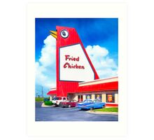 The Big Chicken - Marietta Georgia Landmark Art Print
