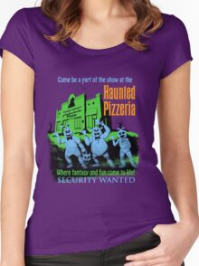 The Haunted Pizzeria Women's Fitted Scoop T-Shirt