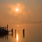 Foggy Ohio River by doorfrontphotos