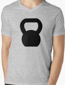 Kettlebell WOD Black Large Mens V-Neck T-Shirt